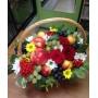 Корзина с фруктами и рябиной