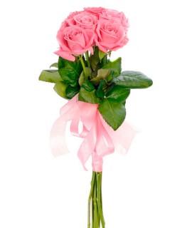 7 Розовых роз