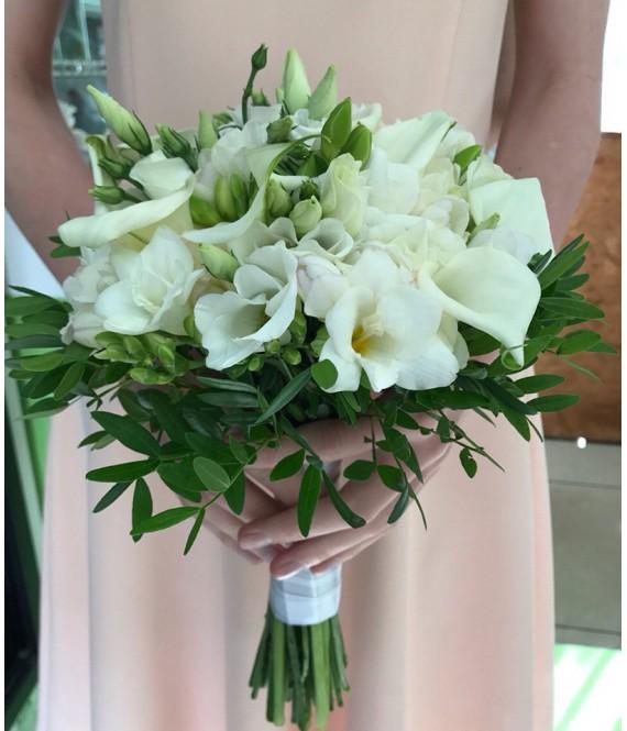 Букет невесты с каллами и фрезией